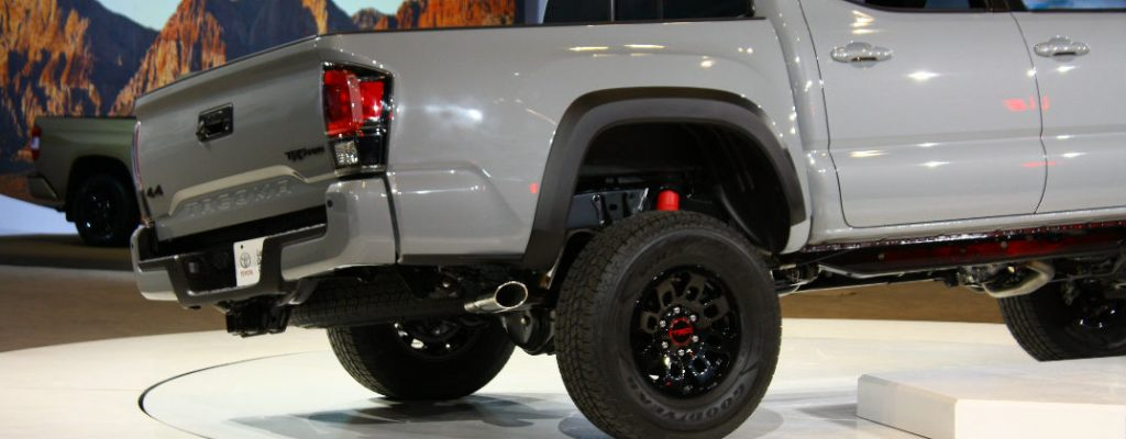 Official 2017 Toyota Tacoma TRD Pro Release Date at White River Toyota-White River Junction VT-Cement 2017 Toyota Tacoma TRD Pro Rear Exterior Wheels-2016 Chicago Auto Show Debut