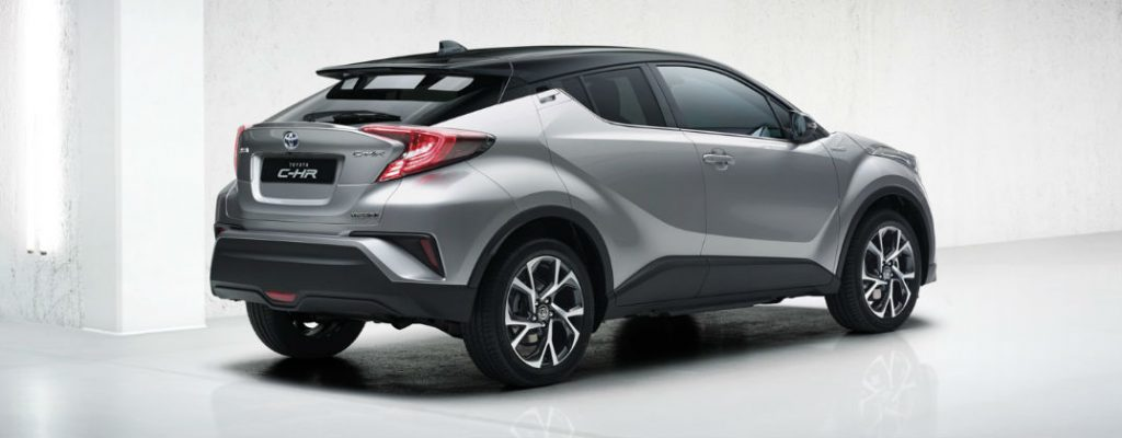 Projected Toyota C-HR U.S. Release Date and Design at White River Toyota-Silver Toyota C-HR Rear Exterior