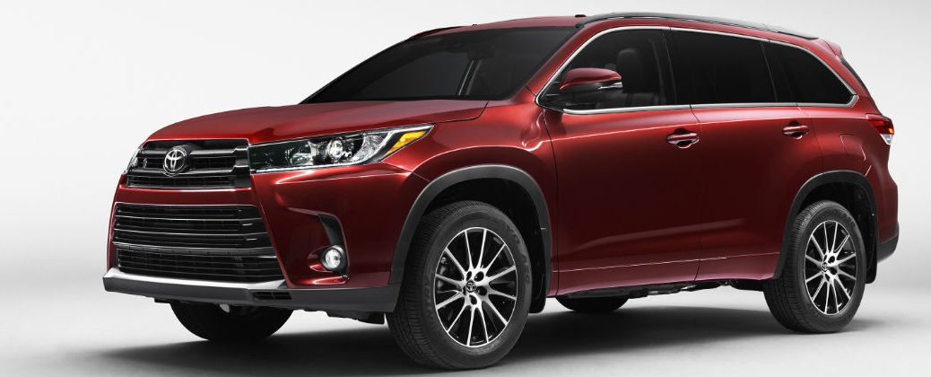 Official 2017 Toyota Highlander Release Date and Design at White River Toyota-White River Junction VT-Red 2017 Toyota Highlander Front and Side Exterior