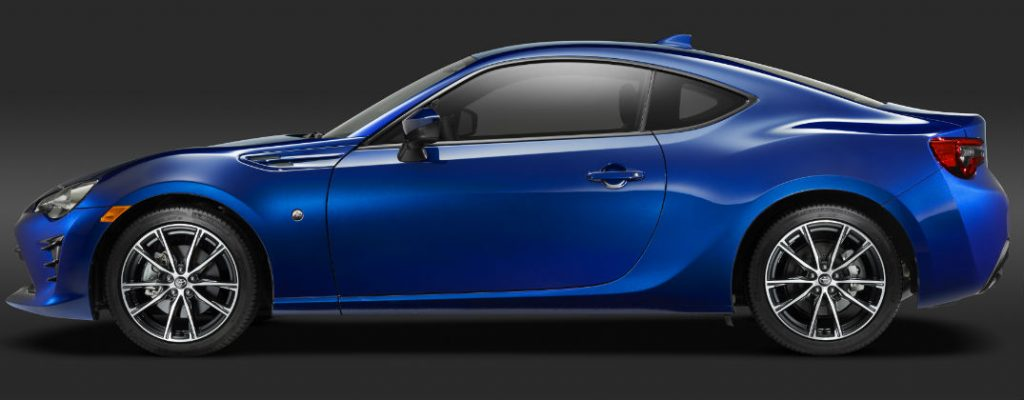2017 Toyota 86 Debut and Release Date at White River Toyota-White River Junction VT-Blue 2017 Toyota 86 Sports Coupe Profile