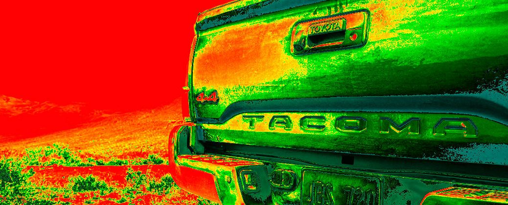 Heat Map of 2016 Toyota Tacoma Rear Tailgate