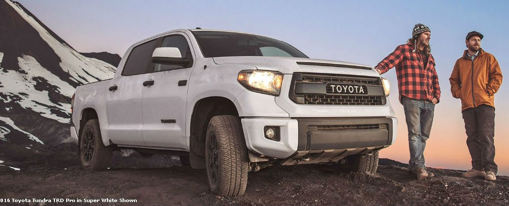 Super White 2016 Toyota Tundra Trd Pro On The Mountain