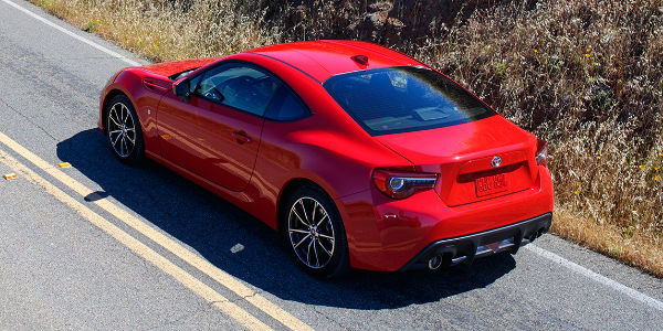Ablaze 2017 Toyota 86 Rear Exterior on Country Road