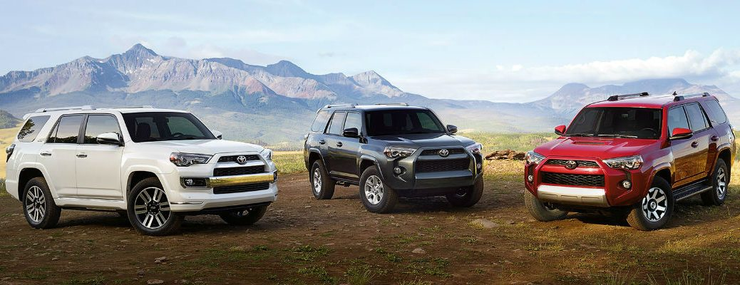 Super White Magnetic Gray Metallic Barcelona Red 2017 Toyota 4runner Models With Mountains
