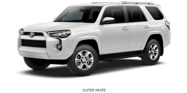 Super White 2017 Toyota 4runner Exterior