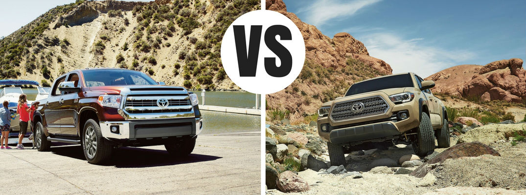 What is the difference between the 2017 Toyota Tundra and Tacoma?