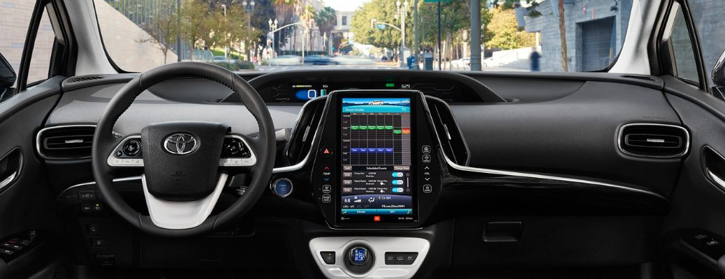 How big is the touchscreen in the 2017 Toyota Prius Prime?