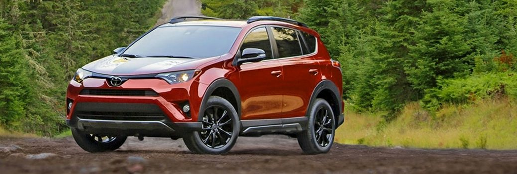 2018 Toyota Rav4 Parked In The Woods
