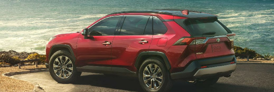2019 Toyota RAV4 parked by the sea