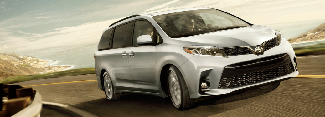 2019 Toyota Sienna driving on the highway
