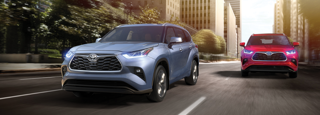 2020 Toyota Highlander driving on the road