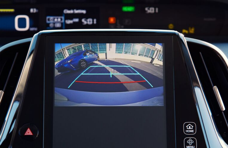 Touchscreen display of the 2020 Toyota Prius