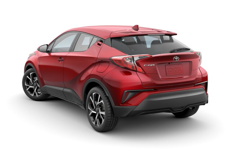 2020 Toyota C-HR parked in white rear view