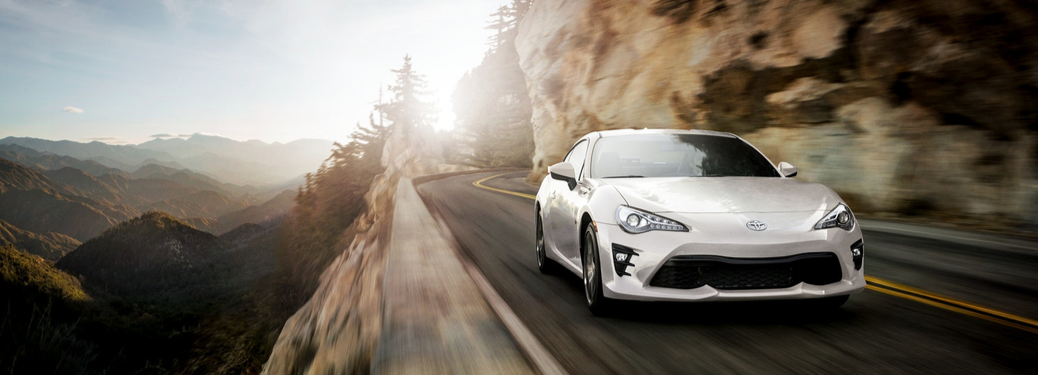 2019 Toyota 86 driving on mountain road