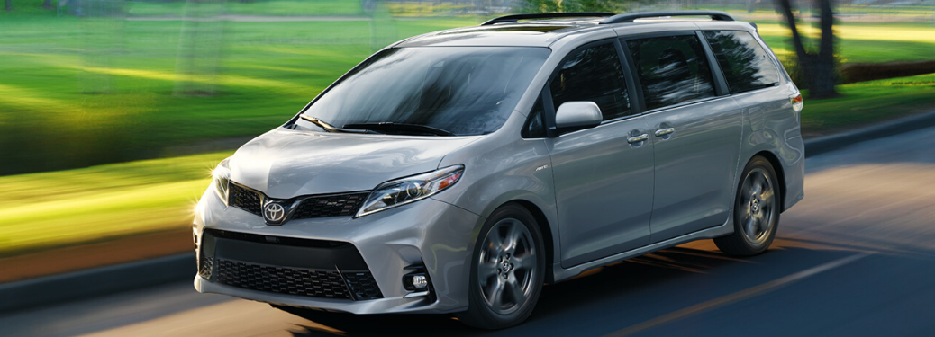 2020 Toyota Sienna driving on the road