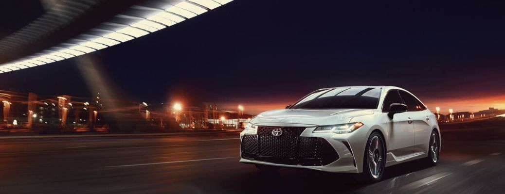 2020 Toyota Avalon front view driving on road
