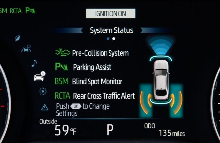 2020 Toyota Avalon safety systems view