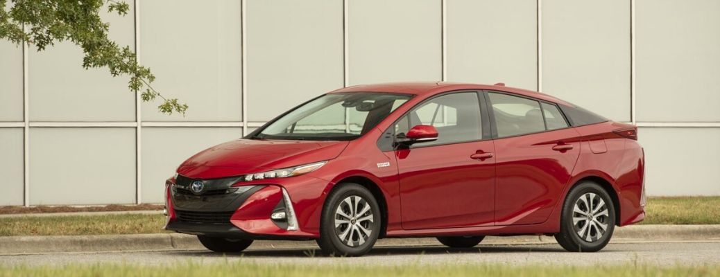 2021 Toyota Prius Prime parked outside side view