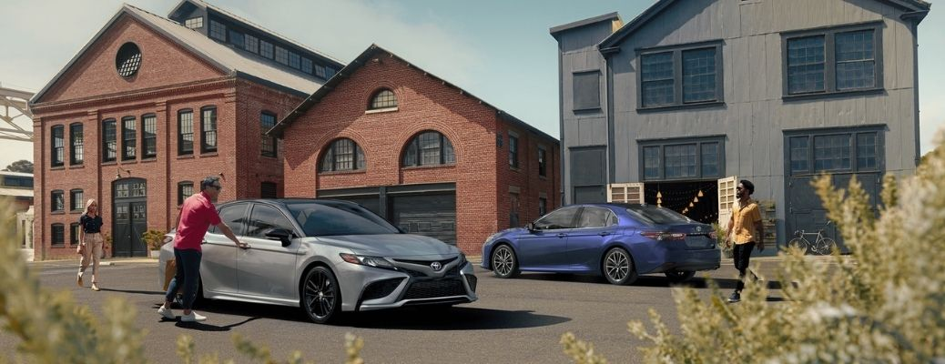2021 Toyota Camrys parked outside