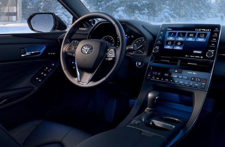 2021 Toyota Avalon interior dash and wheel