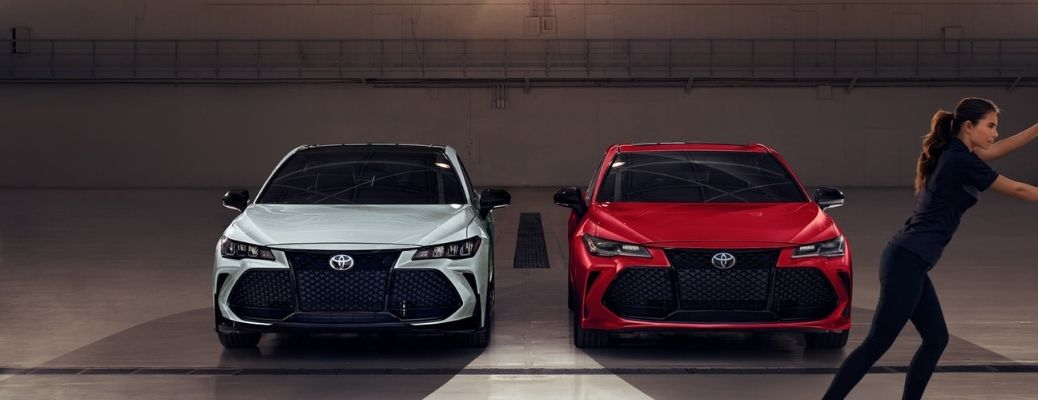 2021 Toyota Avalons parked side-by-side