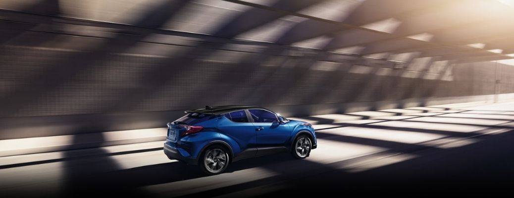 2021 Toyota C-HR driving rear view