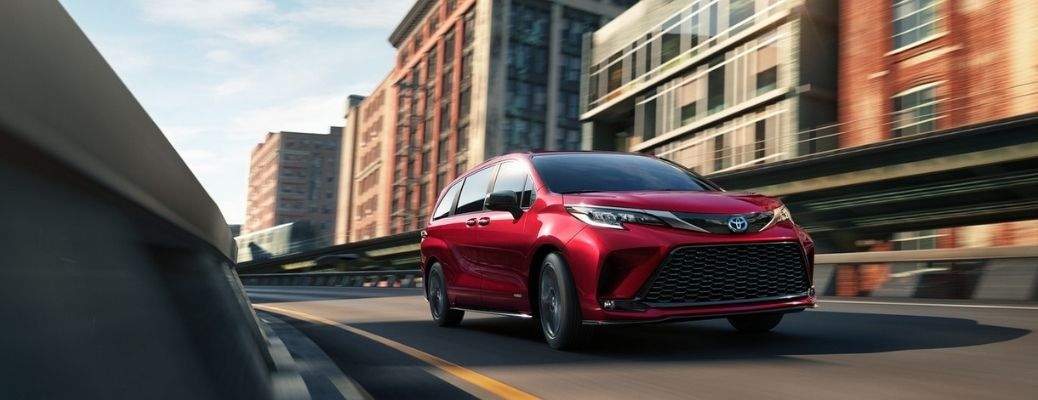 2021 Toyota Sienna driving front view