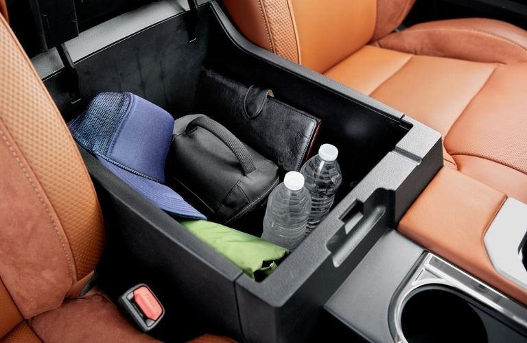 larger center console of the 2021 Toyota Tundra