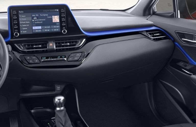 dashboard view of the 2021 Toyota C-HR