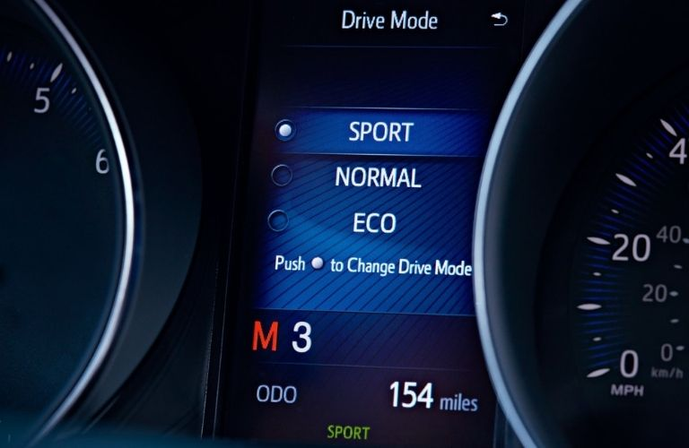 Available drive modes in the 2021 Toyota C-HR