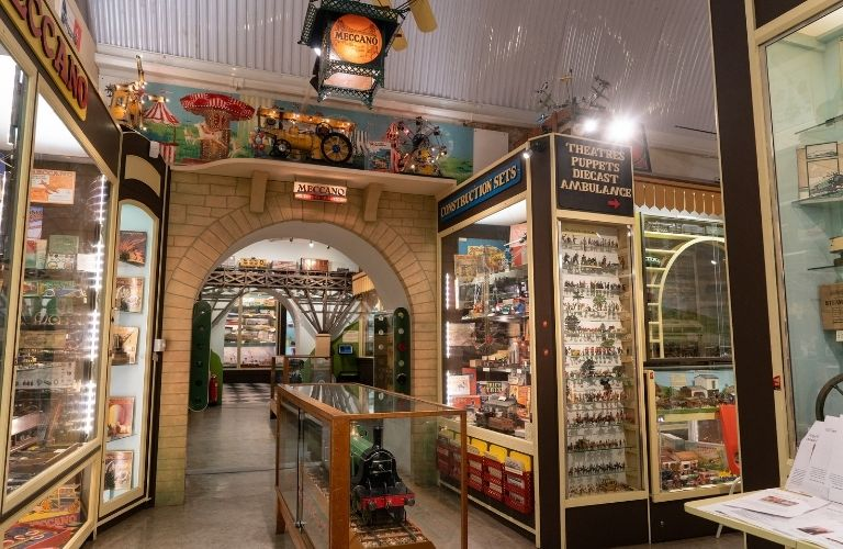 view of the inside of a toy museum