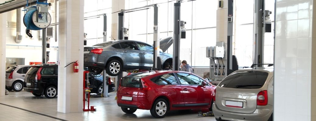 view of the inside a dealership
