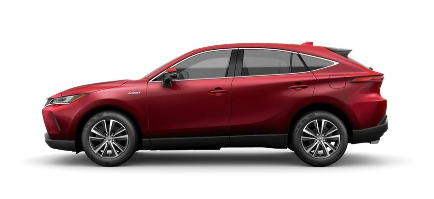 A side view of the 2021 Toyota Venza LE