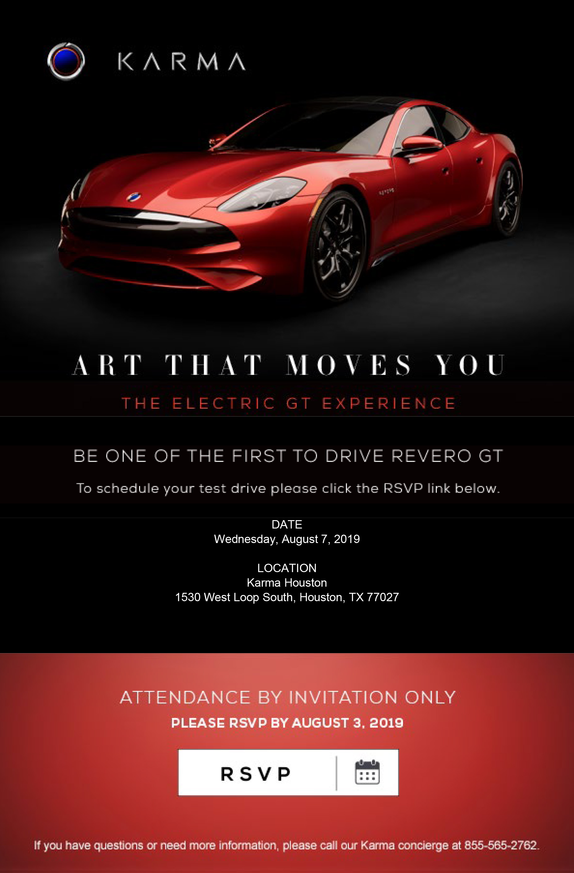 Karma Houston Driving Event with Karma Revero GT