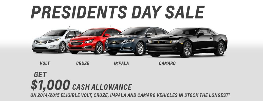 Chevy Presidents Day Sale Huntsville Chattanooga