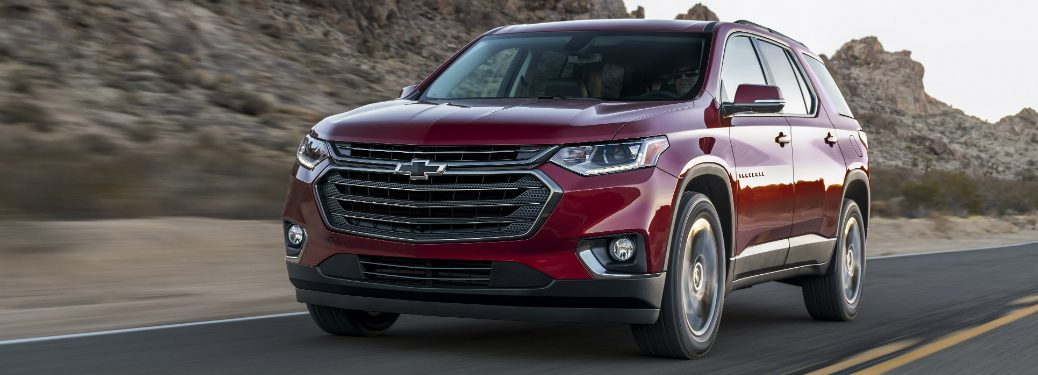 2018 chevy traverse RS driving on mountain road