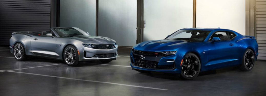 2019 Chevy Camaro RS and SS next to each other