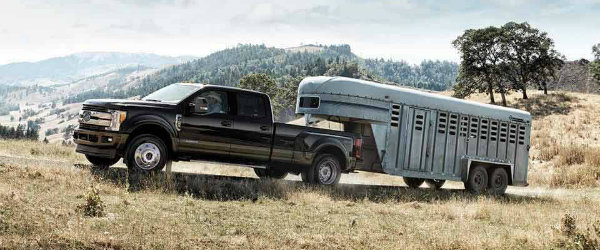 2017 Ford Super Duty towing trailer