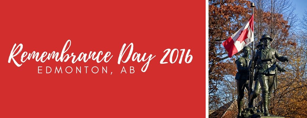 Remembrance Day 2016 ceremonies near Edmonton, AB