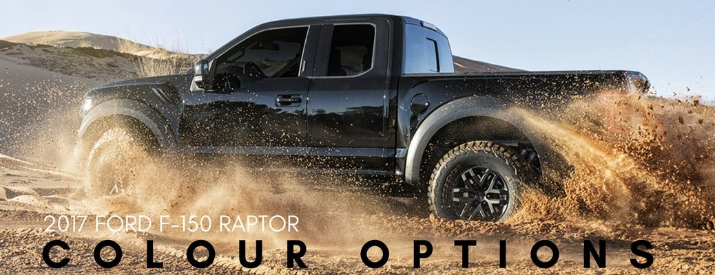 2017 Ford F-150 Raptor colour options