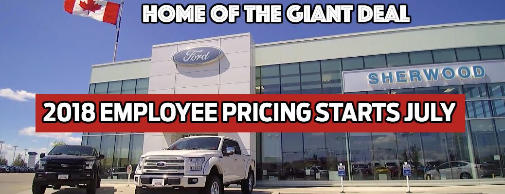 Employee Pricing 2018 at Sherwood Ford