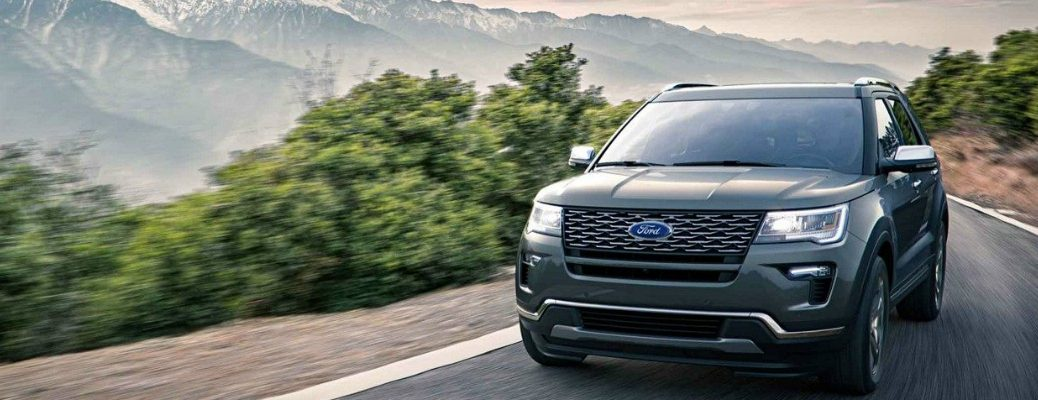 2018 Ford Explorer Driving Through Mountains