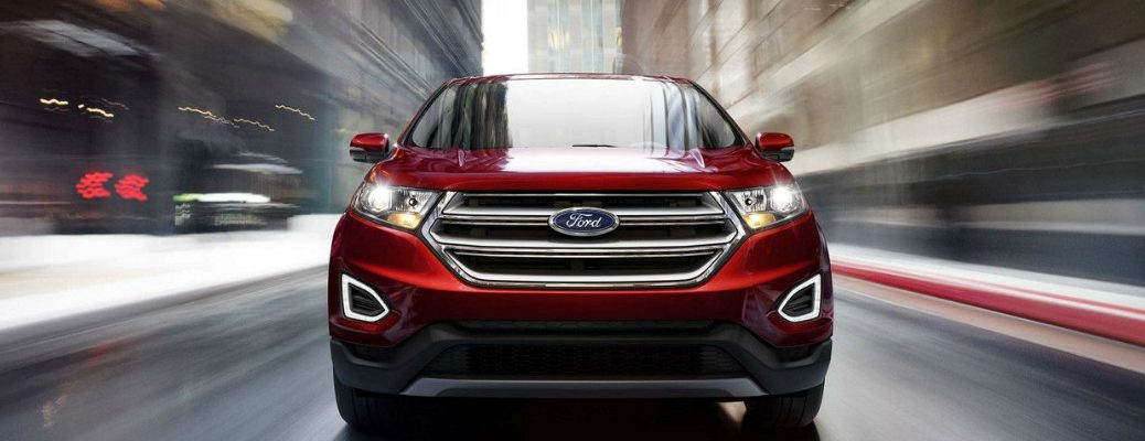 2018 Ford edge Zooming Through Town