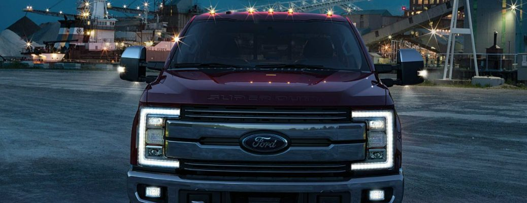 LED Lights Illuminated on a Super Duty Truck