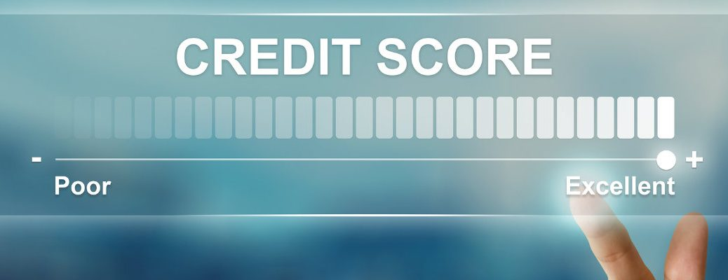 Concept illustrating range of credit scores