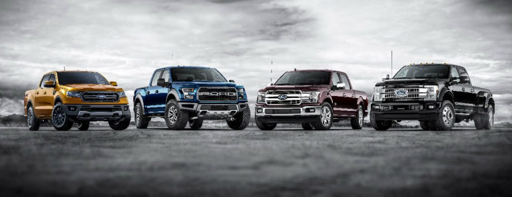 Current Ford pickup truck lineup