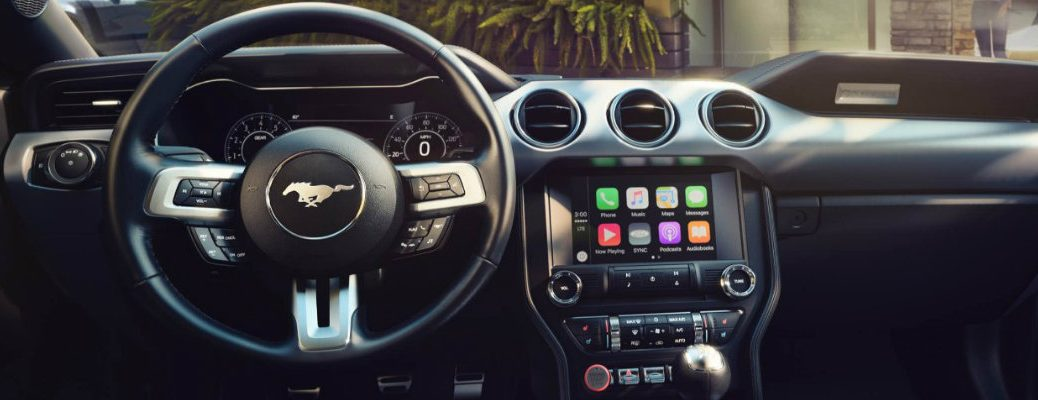 Apple CarPlay interface inside Ford Mustang