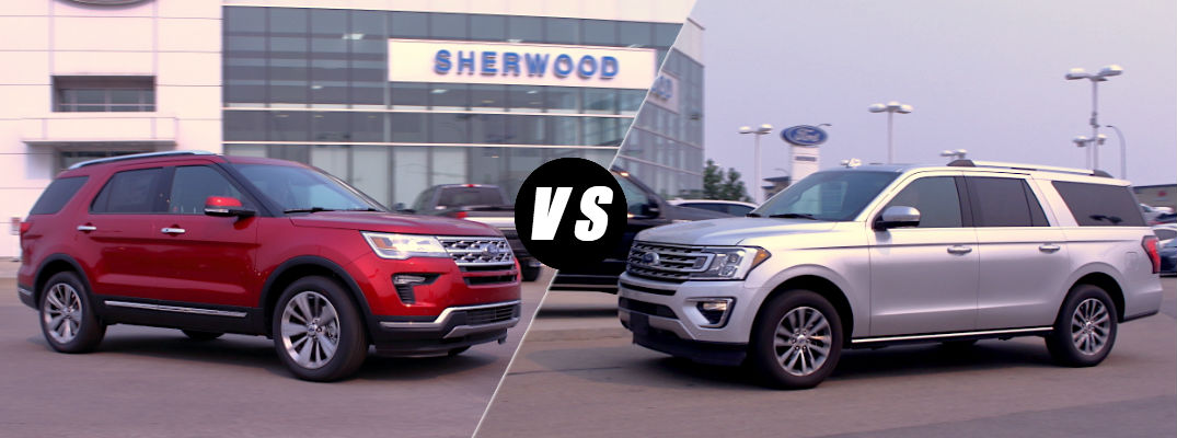 2018 Ford Explorer vs 2018 Ford Expedition
