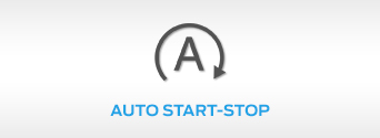 Shot of Ford Auto Start Stop light