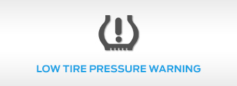 Low Tire Pressure Warning Light in Ford vehicle